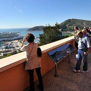 Vistas desde la terraza del Castillo de la Concepción