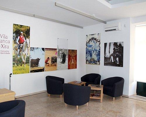 Interior do Posto de Turismo Municipal de Vila Franca de Xira