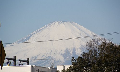 PAから見えた真っ白な富士山