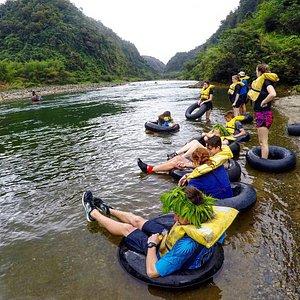 Tubing down the Navua River