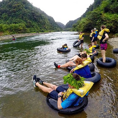 Tubing down the Navua River