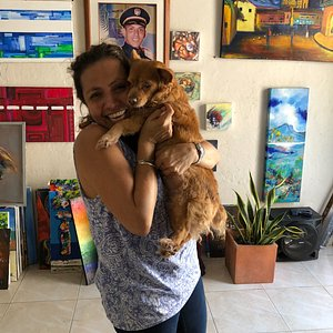 Arte Getsemani – Colombian Art Gallery –Zoé the owner!
