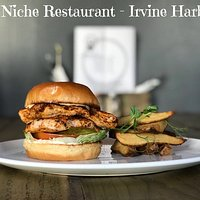 Cajun Chicken Burger and hand cut chunky chips