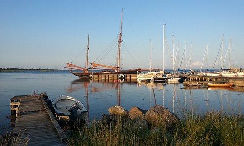 Kristianopel hamn utsikt från Café Sött & Salt