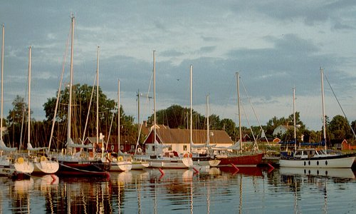 Café Sött & Salt vid hamnen i Kristianopel