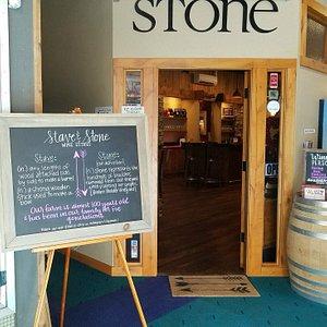 Interior entrance to tasting room