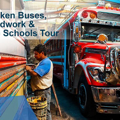 Half-day tour to explore a chicken bus shop, coffin maker, and tour of NDG education projects.