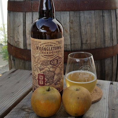Wrangletown Cider.  Small batch, dry, bottle conditioned and sourced from local orchards.