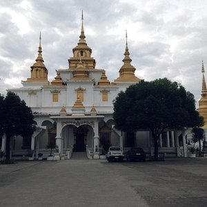 On front of the temple