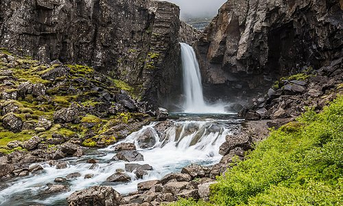 One of many waterfalls in Iceland