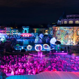 Live DJs, light paintings, LED dancers, fire jugglers and many more.