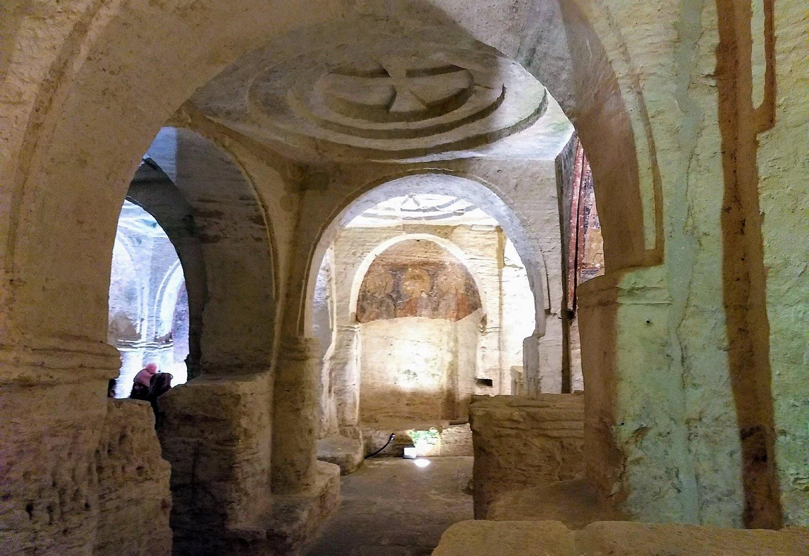 Suggestivo scorcio della cripta