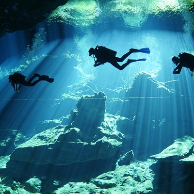 Diving in cenotes. Mexico