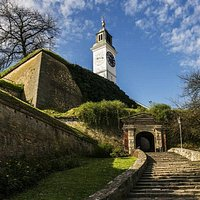 Entrance to the fortress northern part and gate of Ludwig Baden
