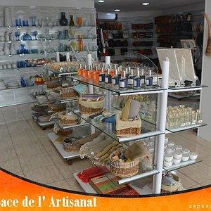 ESPACE DE L'ARTISANAT : espace spécialisé dans la vente de produits d'artisanat 100% Tunisiens