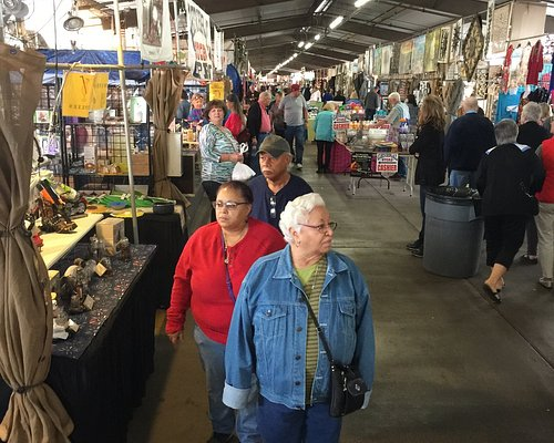 Taken looking down an isle of the flea market