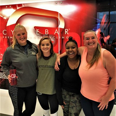 CycleBar guests and staff just having a great time!