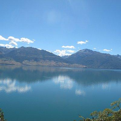 Lake Wanaka just after Haast Pass