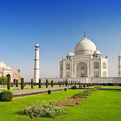 Taj Mahal, A UNISCO Heritage Monument and A  symbol of Love located in Agra