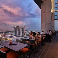 Terrace - Overlooking Singapore Skyline