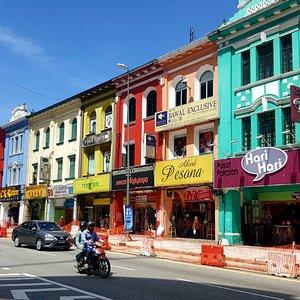 colorful historical buildings in Jalan Tuanku Abdul Rahman (Jalan TAR)
