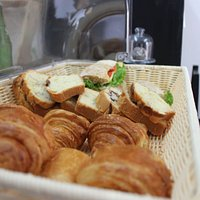 Pastries and homebaked sandwiches