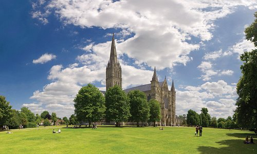 Salisbury Cathedral's close is the largest in Britain - the perfect spot for a picnic!