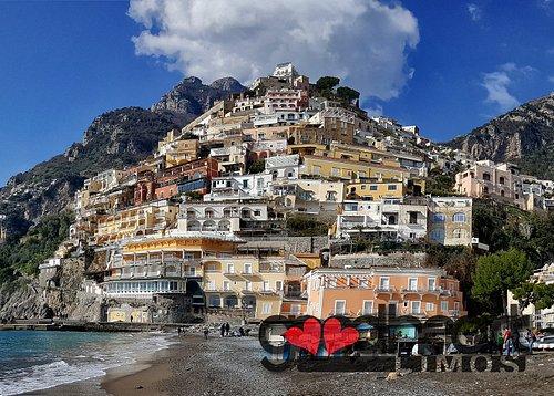 Positano in winter time. Amalfi Coast Tour