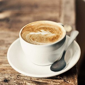Learning outside the class room. Enjoy a coffee
