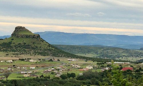 View to Isandlwana hill from terrace