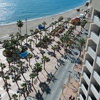 Blick vom Hotelbalkon