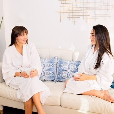 Relax and enjoy a cup of tea in our spa lounge
