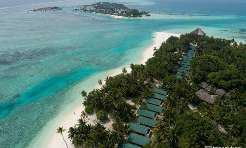 Aerial Photography of Meeru Island Resort & Spa