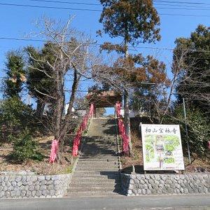 石段と山門