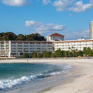 Beach at the Shiraraso Grand Hotel