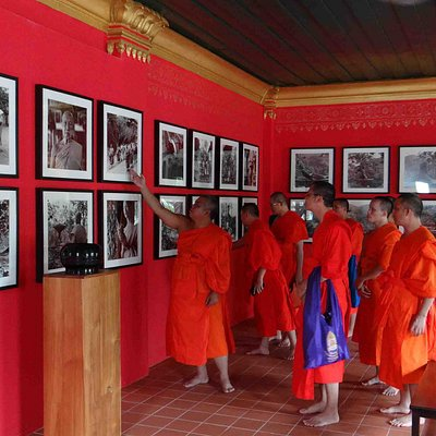 Monks visiting the Archive of Photography, Luang Prabang
