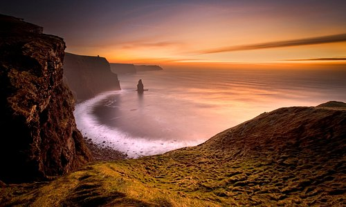 Sunsets at the Cliffs of Moher are breathtaking and incomparable