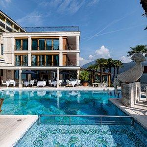 The Pool at the Swiss Diamond Hotel Lugano