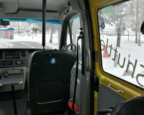 Inside the minibus