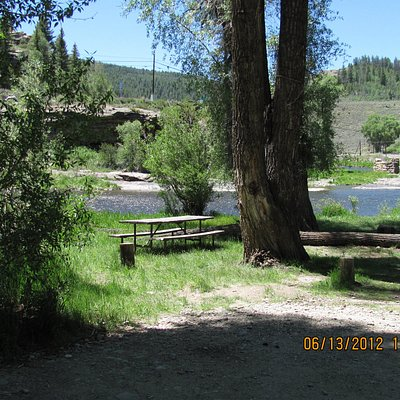 Day Use area next to the Colorado River in Pioneer Park Hot Sulphur Springs, CO