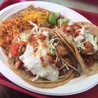 Gigantic fish tacos!