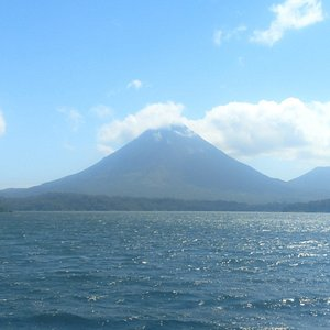 Lake Arenal with Arenal Volcano, spectacular beauty!