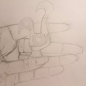 This is a drawing of my hand. This is after 4 weeks of instruction, with no prior arts training.