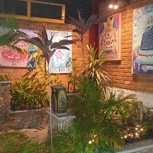 Our Gallery also includes a garden area that features many more amazing art pieces to see and en