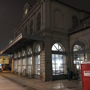 ... the old station's entrance