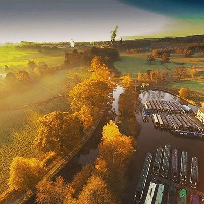 Beautiful drone shot of the Chirk Base