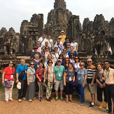 They are all my clients who took the tour in Cambodia with me,