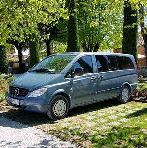 Mercedes Vito long version (8 pax + 1 driver, Barbara) Rental with driver