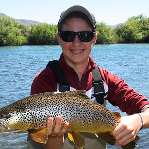 Pietro and his great Brown on a Dry
