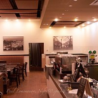 Our stylish Cafe decorated in light colours with a nostalgie note of Europe.